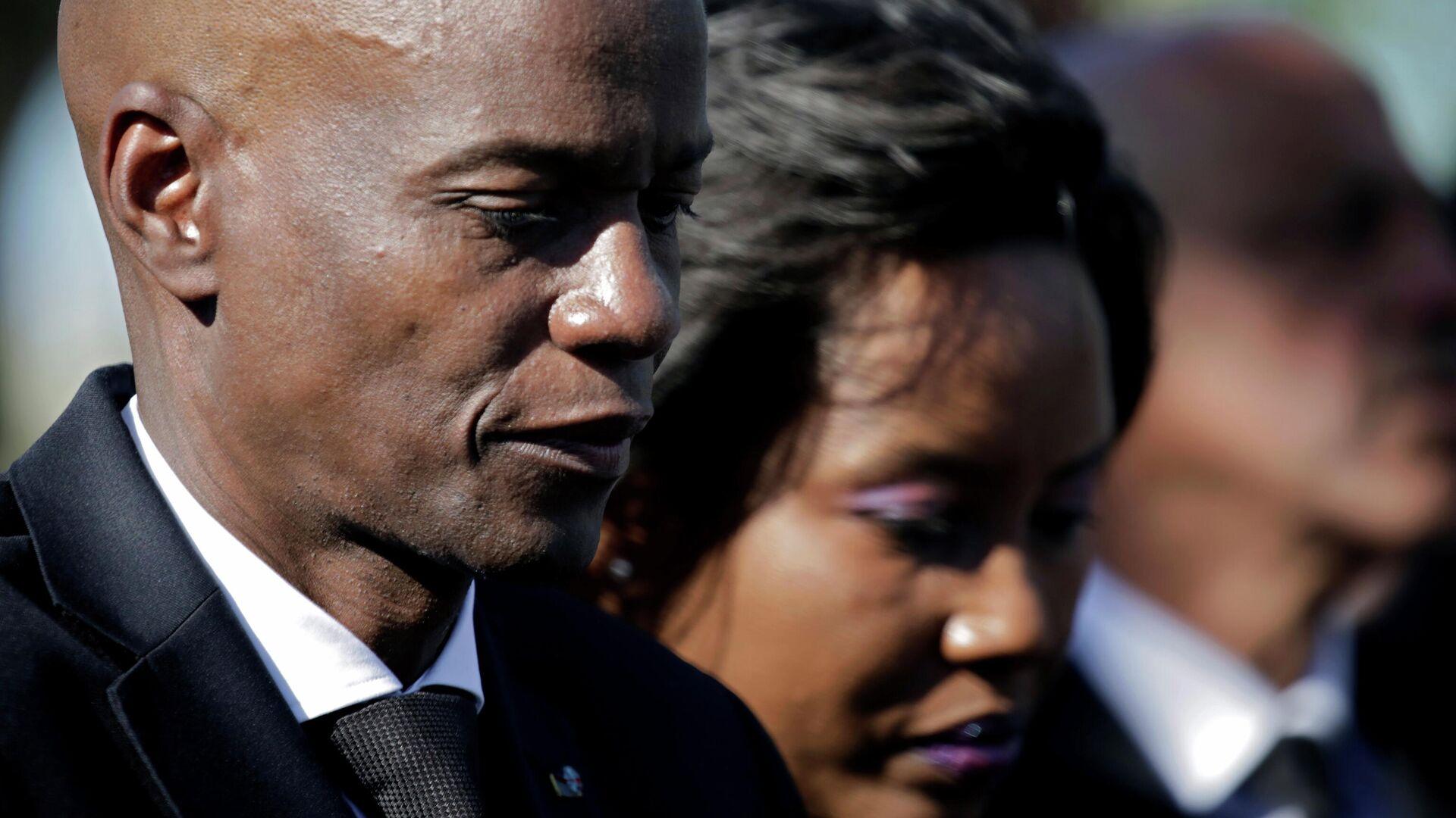 El presidente de Haití, Jovenel Moise, y de su esposa, Martine Moise - Sputnik Mundo, 1920, 12.07.2021