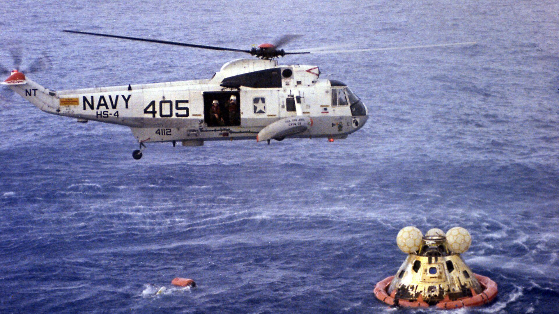 Rescatre del 'Apollo 13' en pleno océano Pacífico - Sputnik Mundo, 1920, 07.07.2021