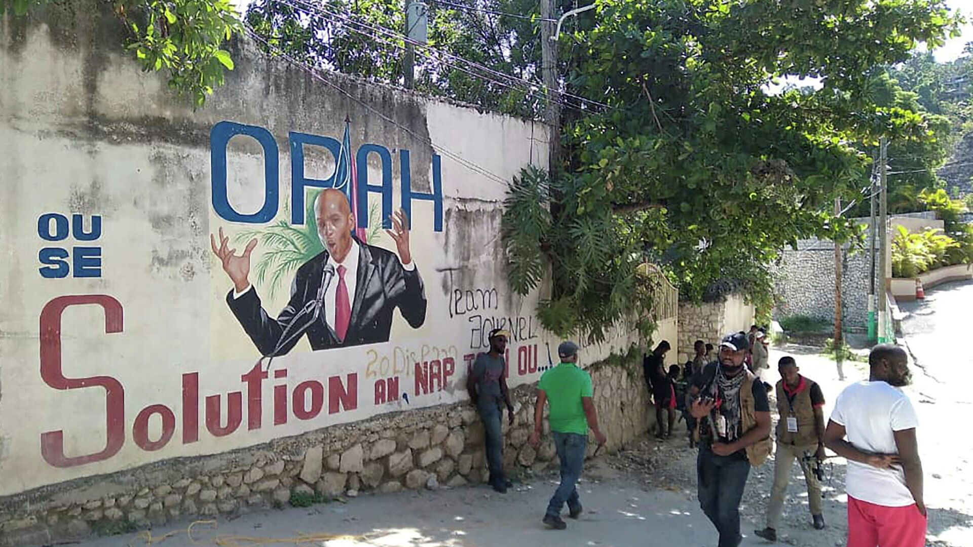 Mural con el presidente de Haití Jovenel Moise, asesinado el 7 de julio - Sputnik Mundo, 1920, 08.07.2021