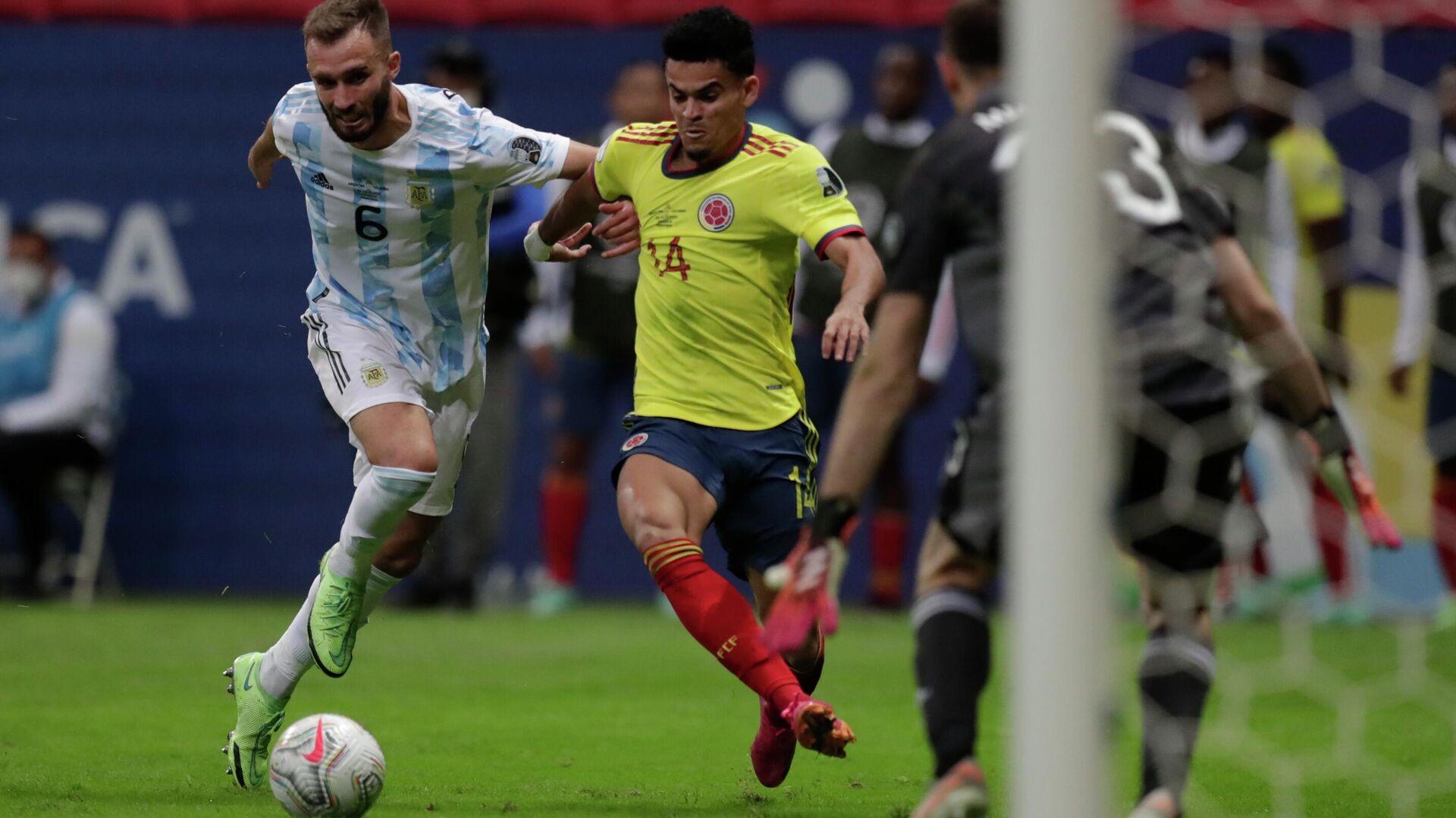 Luis Díaz gol Colombia Argentina - Sputnik Mundo, 1920, 08.07.2021