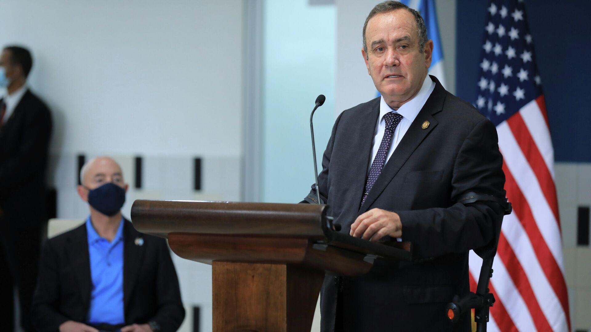 Alejandro Giammattei, presidente de Guatemala - Sputnik Mundo, 1920, 09.07.2021