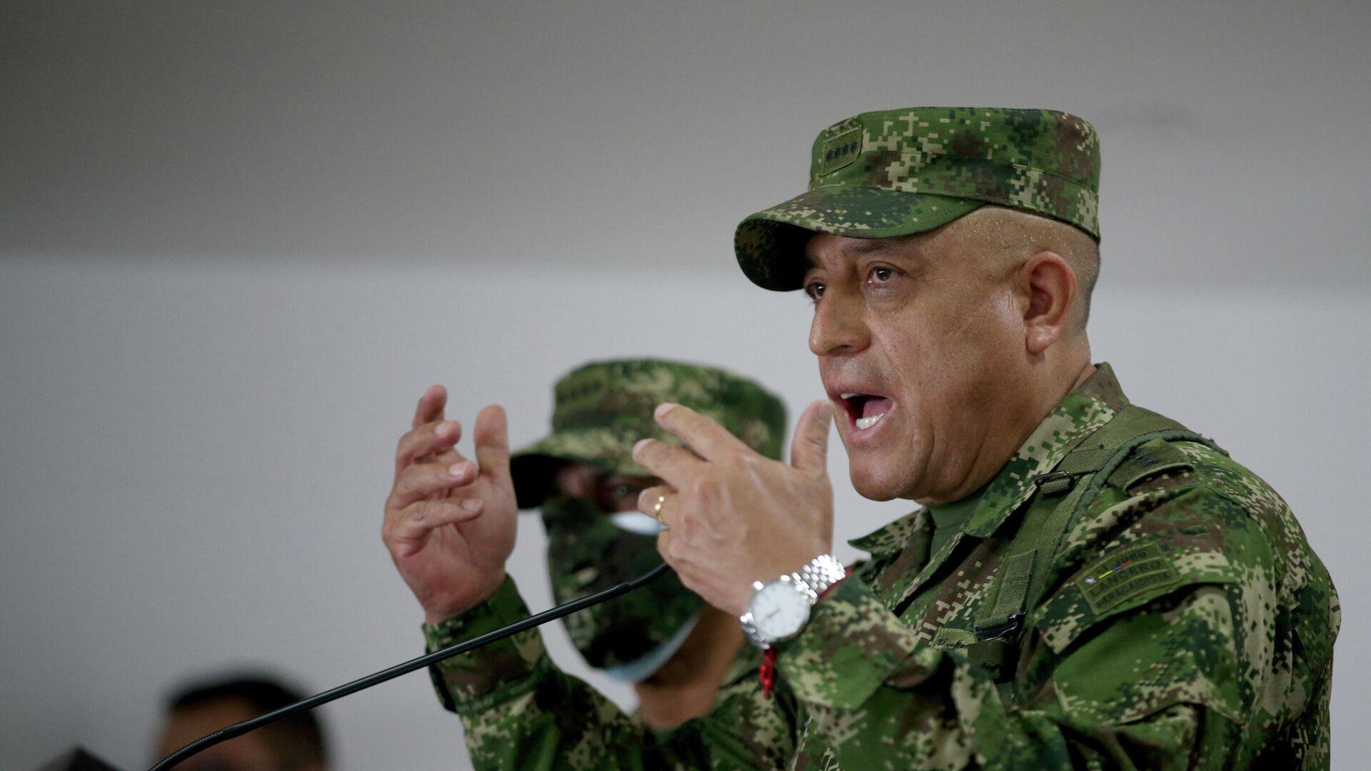 Luis Fernando Navarro, comandante de las Fuerzas Militares de Colombia  - Sputnik Mundo, 1920, 09.07.2021