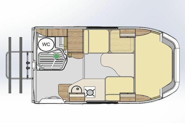 Configuración de la cabina en modo de salón con una mesa - Sputnik Mundo