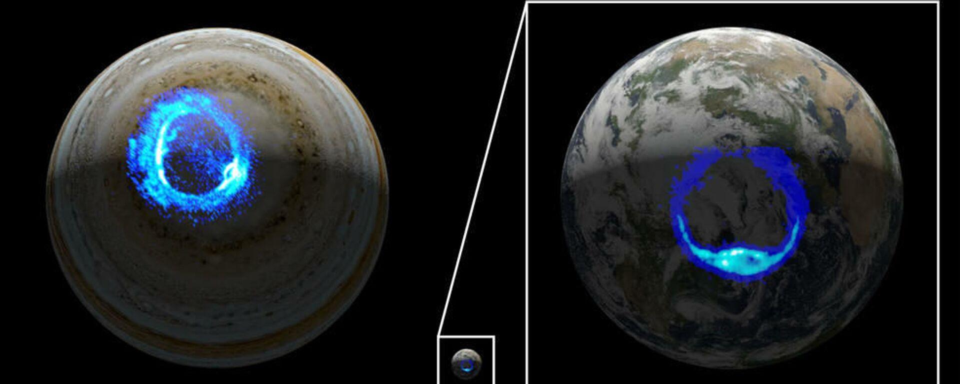 Auroras polares ultravioleta en Júpiter y en la Tierra - Sputnik Mundo, 1920, 10.07.2021