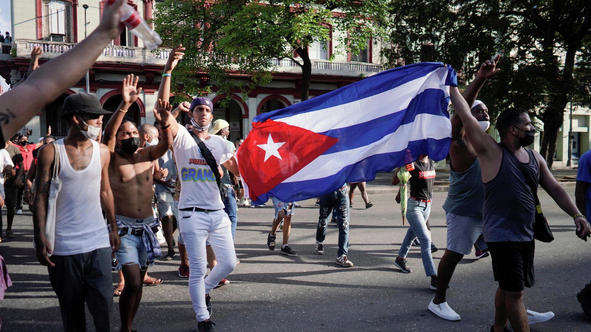Manifestación en La Habana, Cuba - Sputnik Mundo, 1920, 13.07.2021