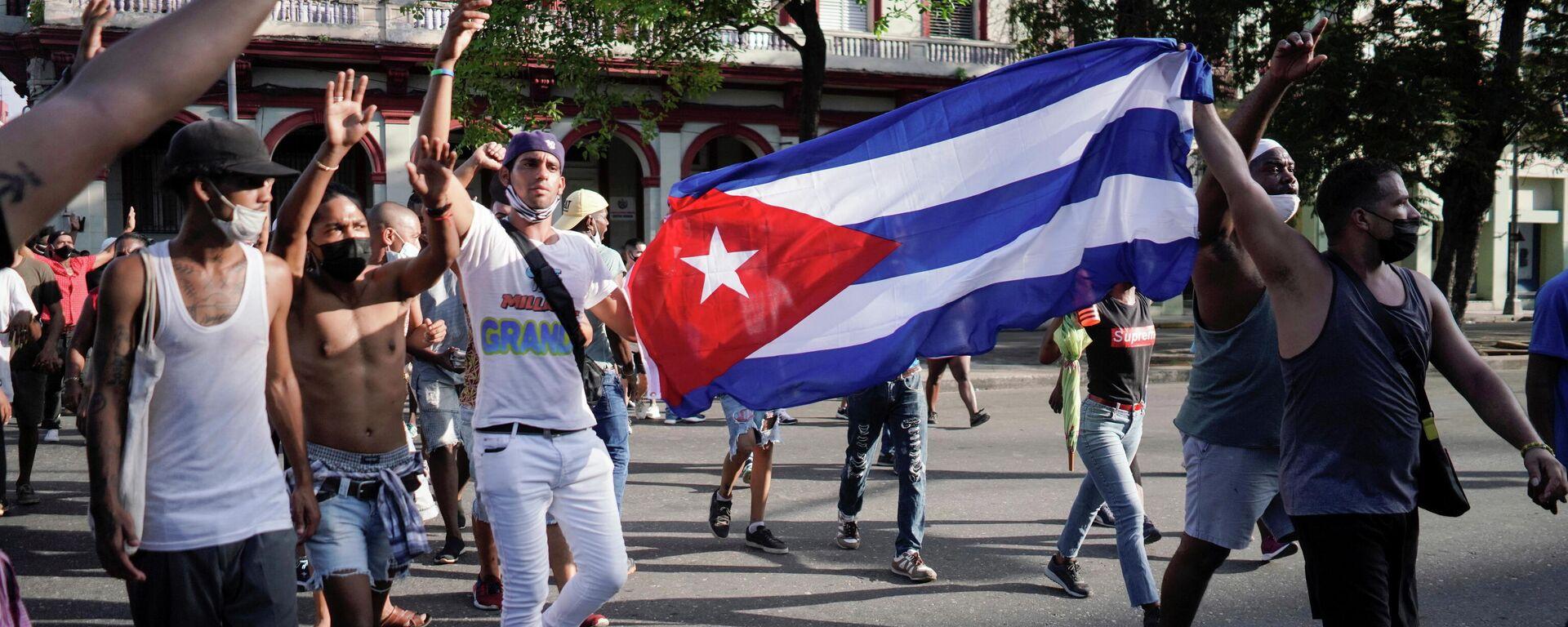 Manifestación en La Habana, Cuba - Sputnik Mundo, 1920, 12.07.2021