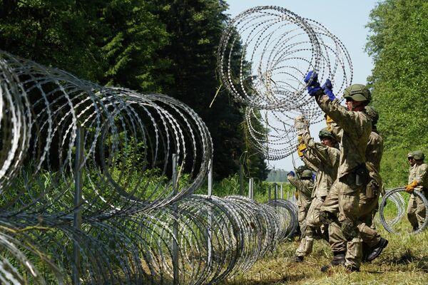 Lituania construye una valla para detener la migración irregular desde Bielorrusia - Sputnik Mundo