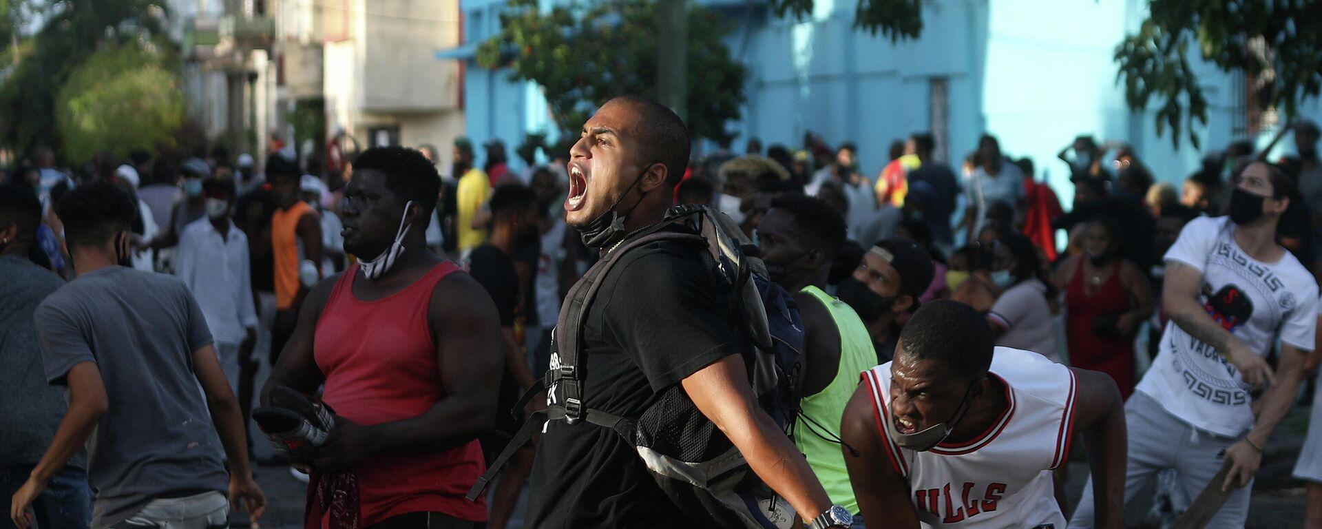 Protestas en La Habana  - Sputnik Mundo, 1920, 13.07.2021