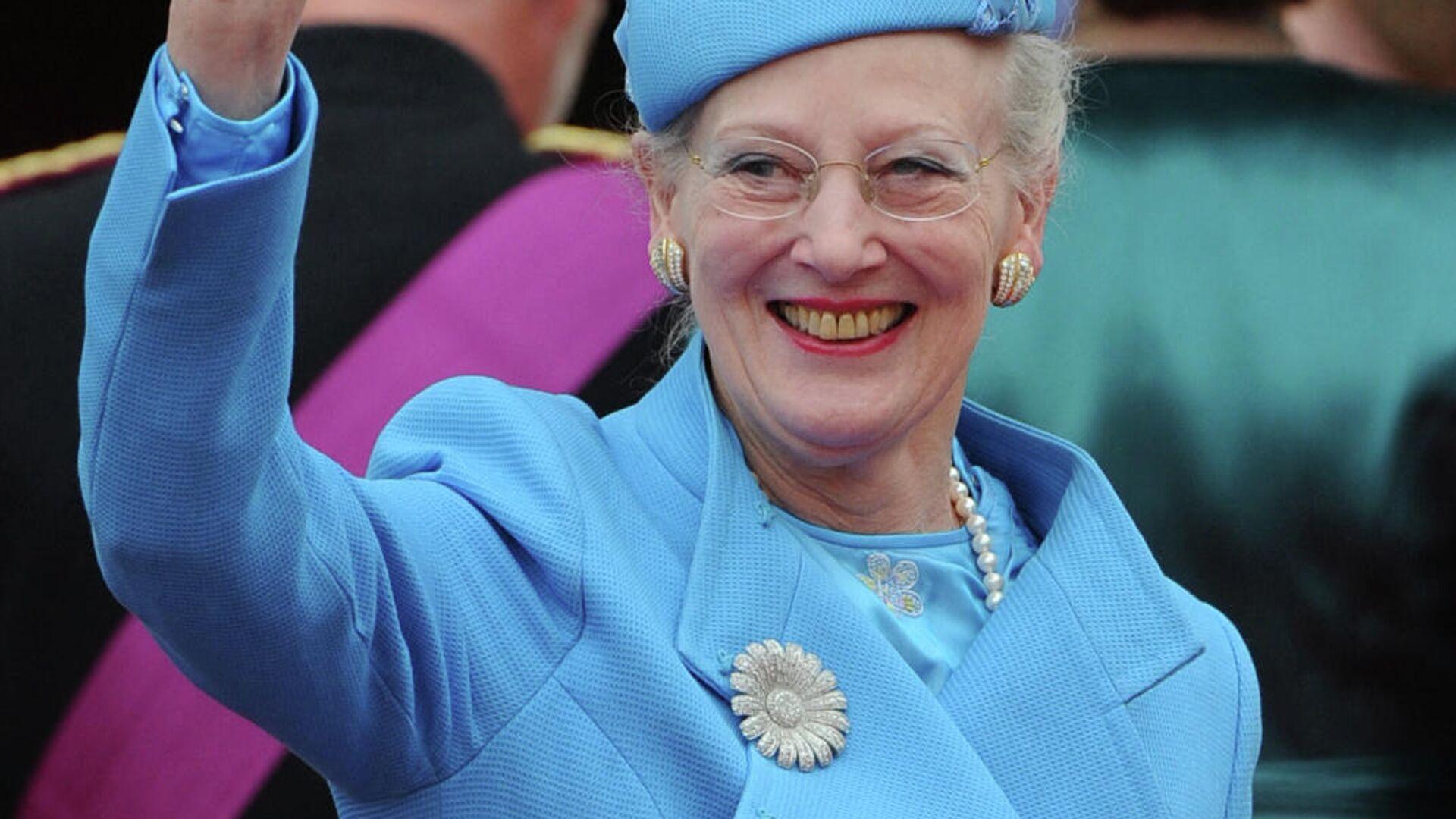 Margarita II, reina de Dinamarca, llega a la boda del príncipe William con Kate Middleton, el 29 de abril de 2011 - Sputnik Mundo, 1920, 13.07.2021