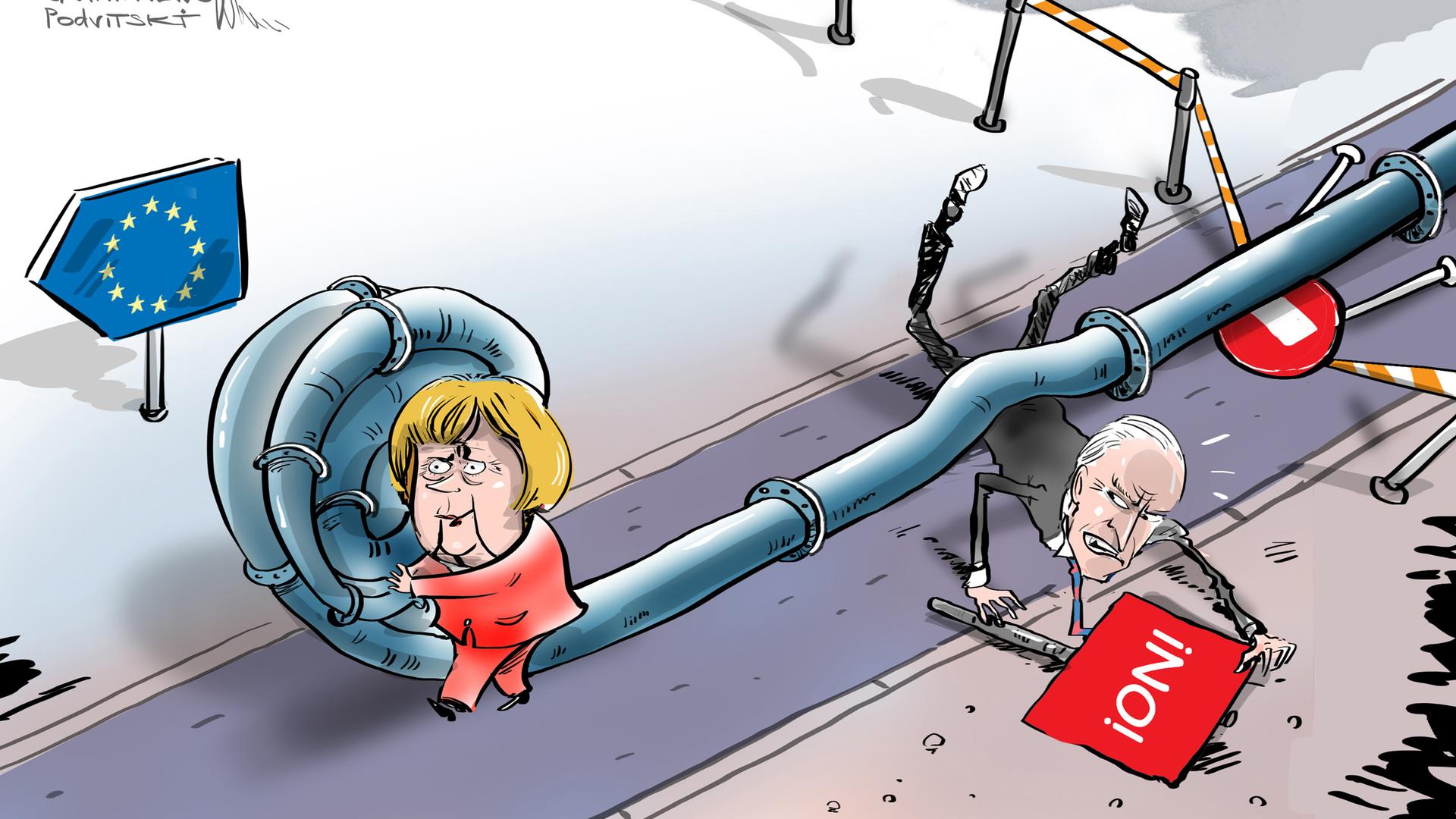 Merkel desaira a Biden - Sputnik Mundo, 1920, 13.07.2021