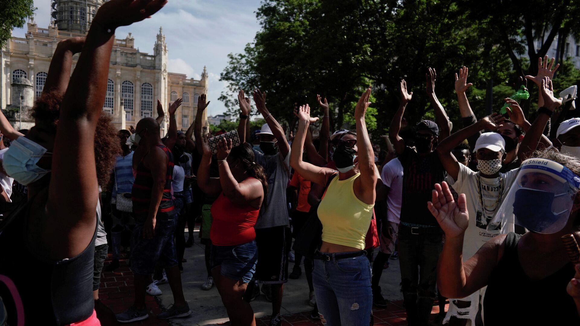 Protestas en La Habana, Cuba - Sputnik Mundo, 1920, 13.07.2021