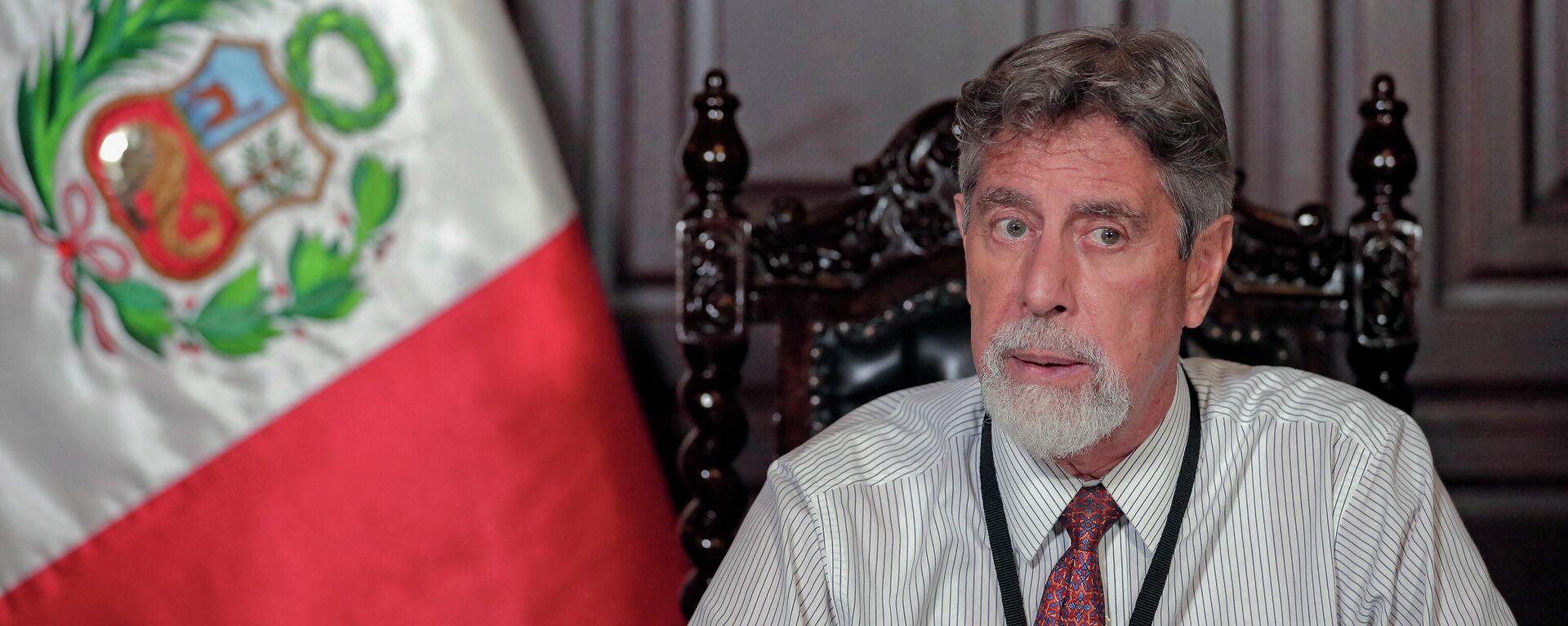 Francisco Sagasti, presidente de Perú - Sputnik Mundo, 1920, 13.07.2021