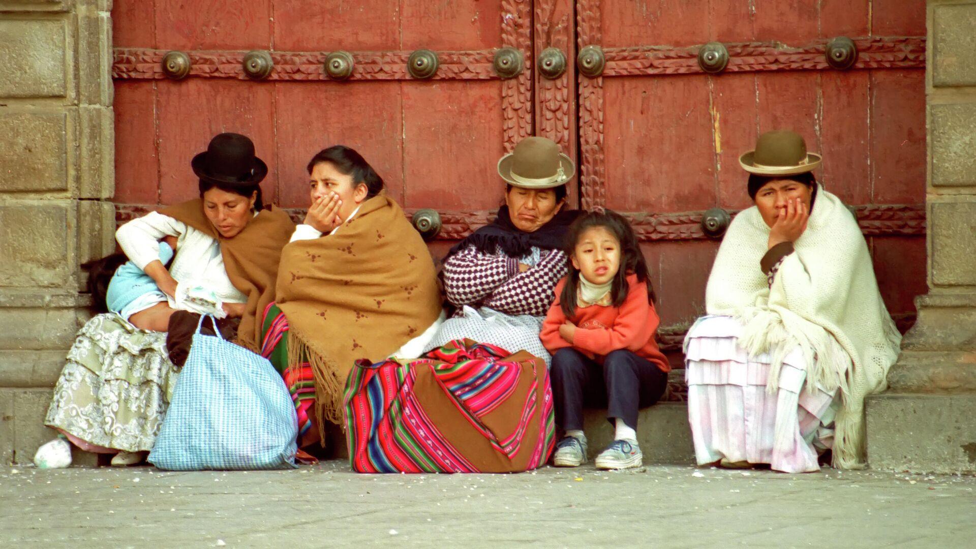 Mujeres con vestimenta tradicional en La Paz - Sputnik Mundo, 1920, 13.07.2021