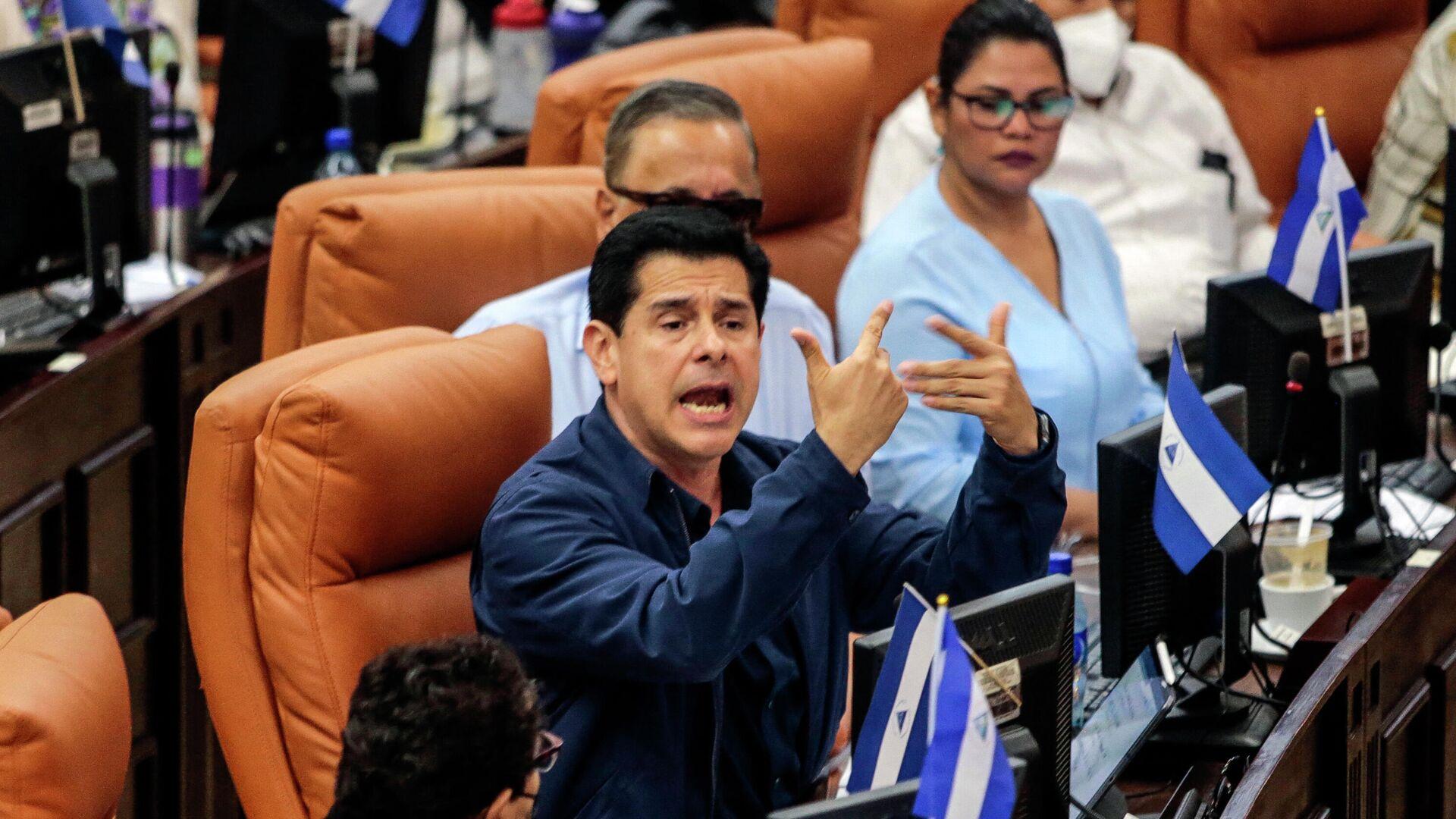 Wálmaro Gutiérrez, el diputado y presidente de la Comisión de Producción, Economía y Presupuesto de la Asamblea Nacional (Parlamento) de Nicaragua - Sputnik Mundo, 1920, 14.07.2021