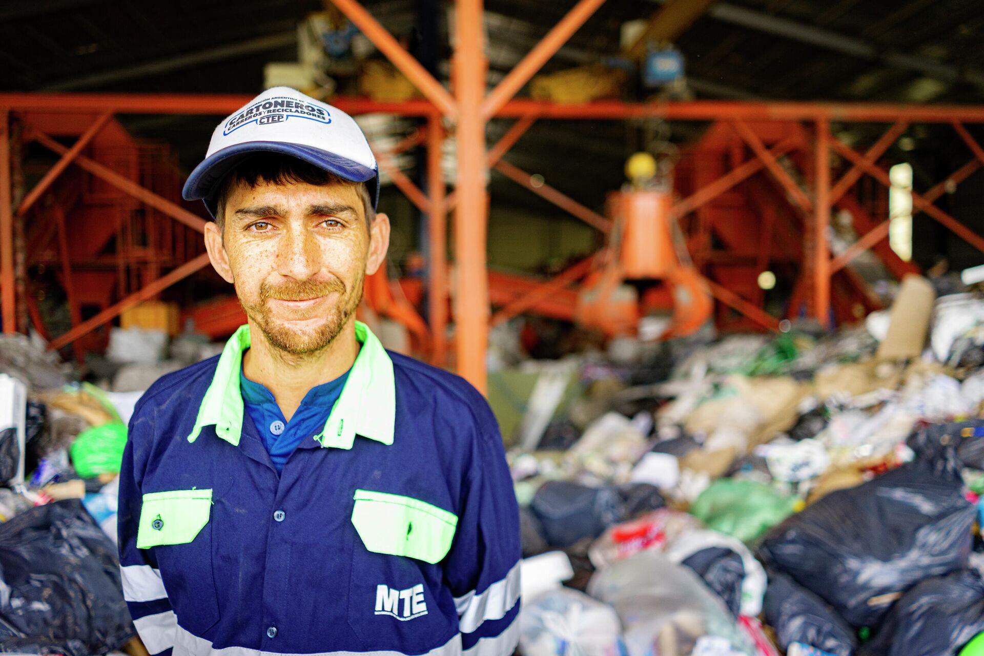 Jonathan Castillo, presidente de la cooperativa Recicladores Unidos de Avellaneda - Sputnik Mundo, 1920, 14.07.2021