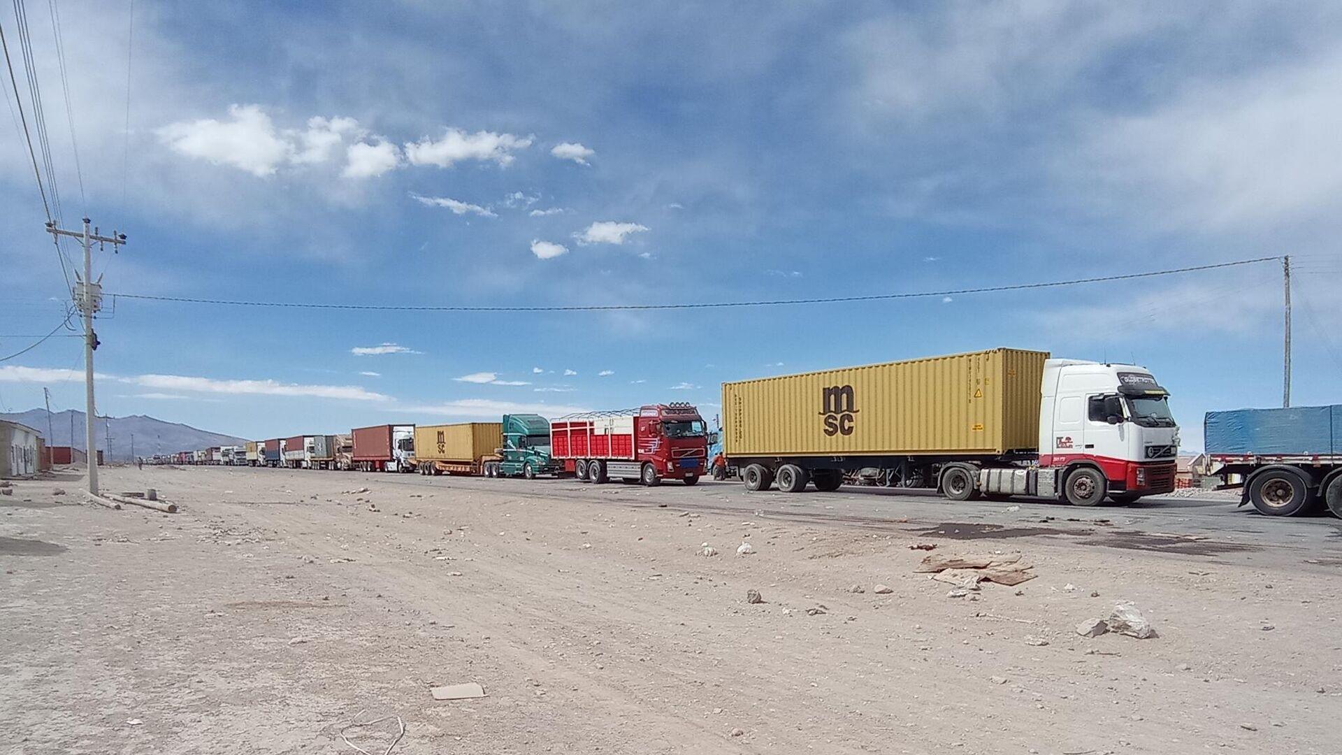 Camiones varados en la frontera entre Bolivia y Chile - Sputnik Mundo, 1920, 14.07.2021