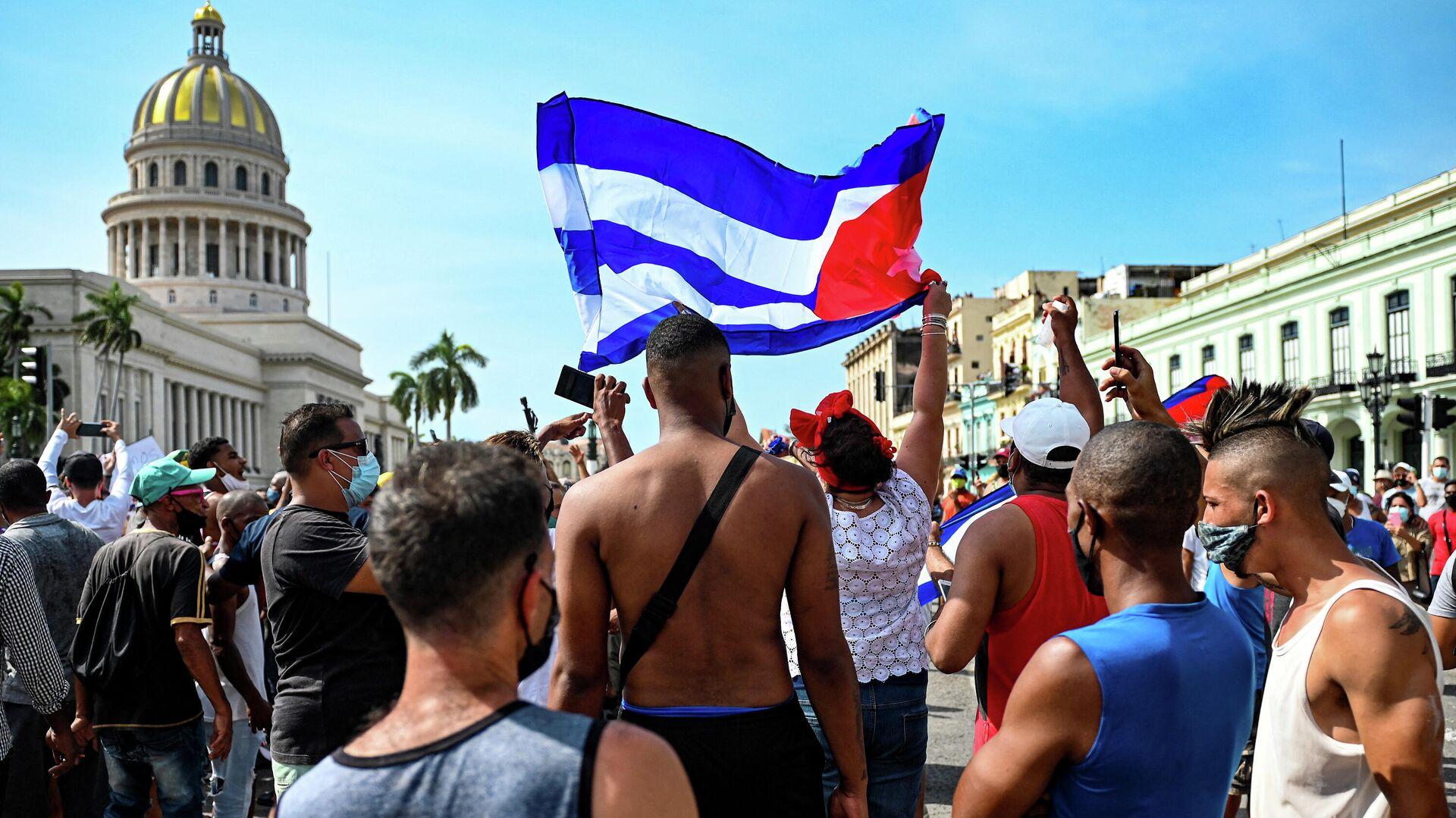 Protestas en la Habana, Cuba - Sputnik Mundo, 1920, 15.07.2021