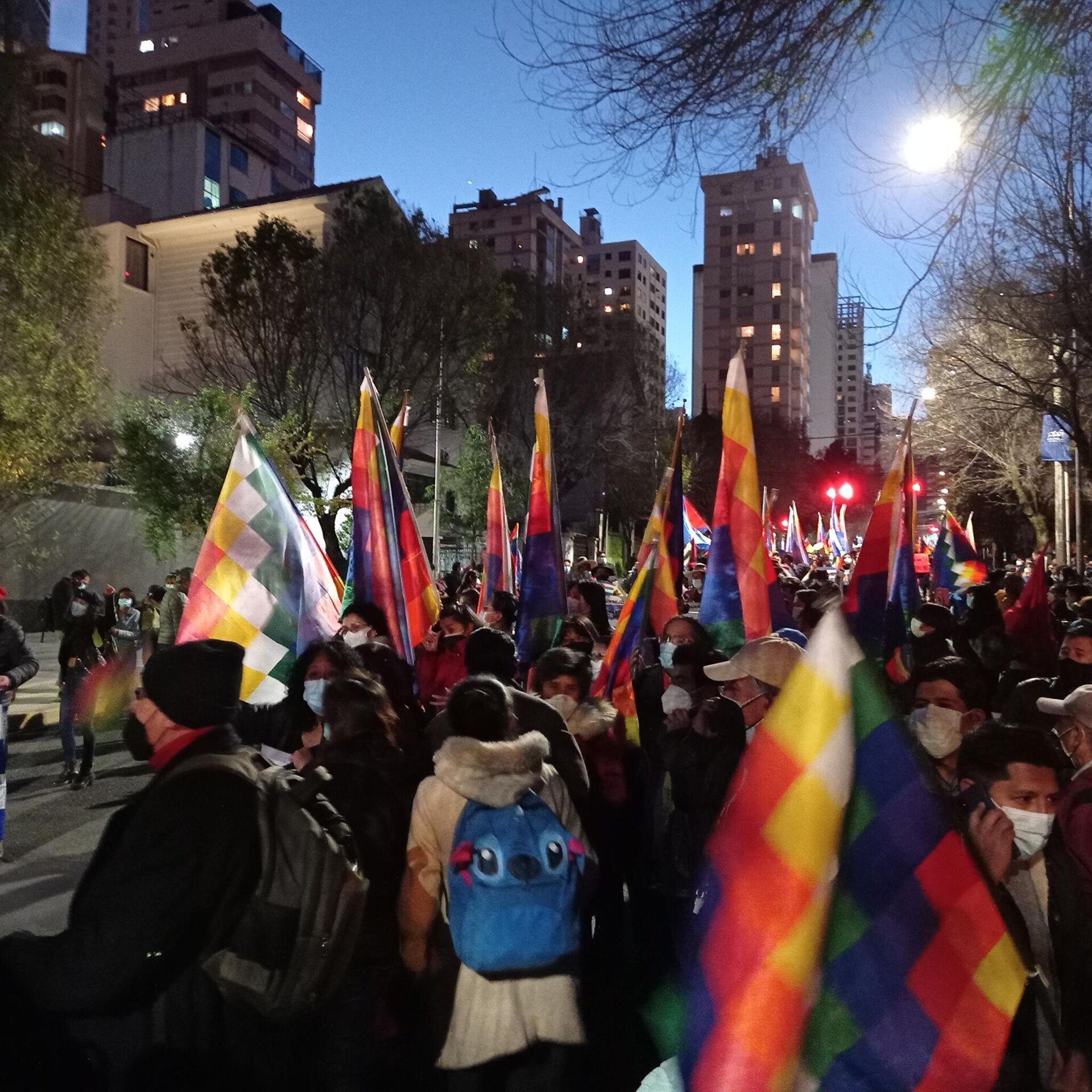 Manifestación en Bolivia en apoyo del Gobierno cubano - Sputnik Mundo, 1920, 15.07.2021