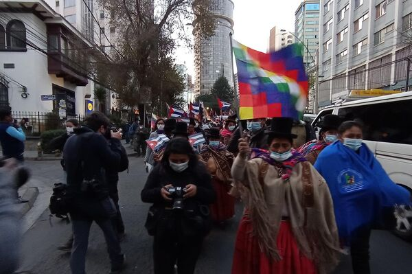 Manifestación en Bolivia en apoyo del Gobierno cubano - Sputnik Mundo