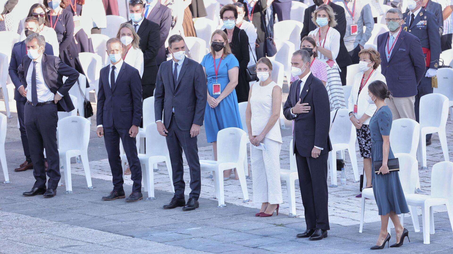 Acto de homenaje a las víctimas del COVID-19 en el Palacio Real - Sputnik Mundo, 1920, 15.07.2021