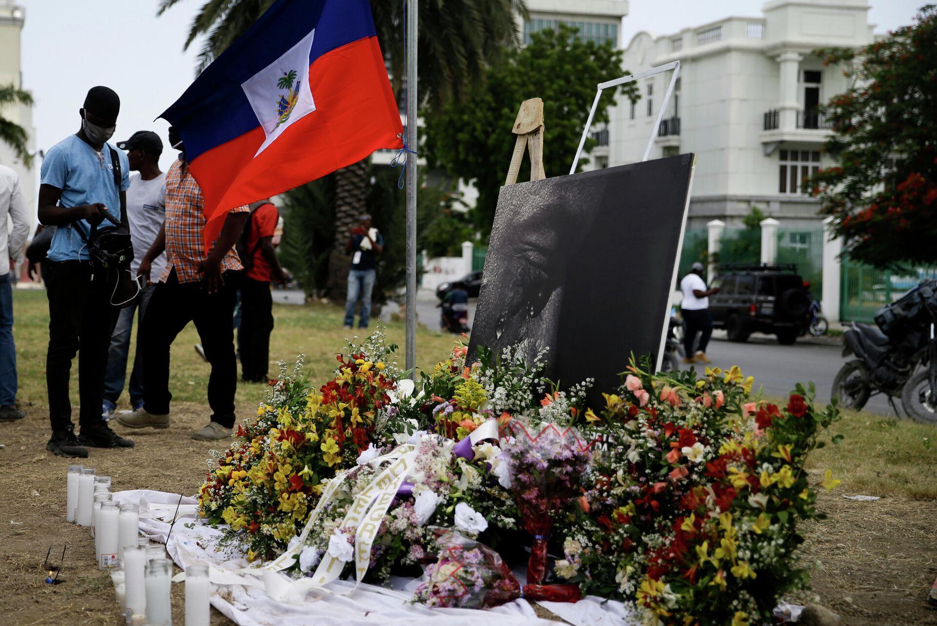 Homenaje al asesinado presidente de Haití, Jovenel Moise - Sputnik Mundo, 1920, 15.07.2021