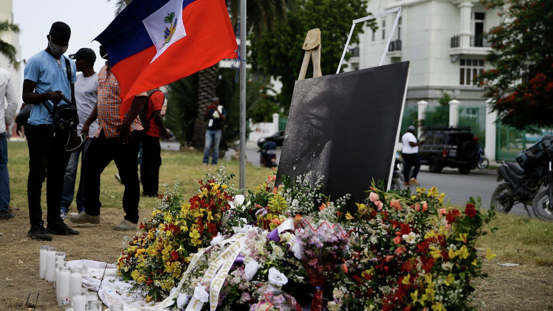 Homenaje al asesinado presidente de Haití, Jovenel Moise - Sputnik Mundo, 1920, 02.09.2021