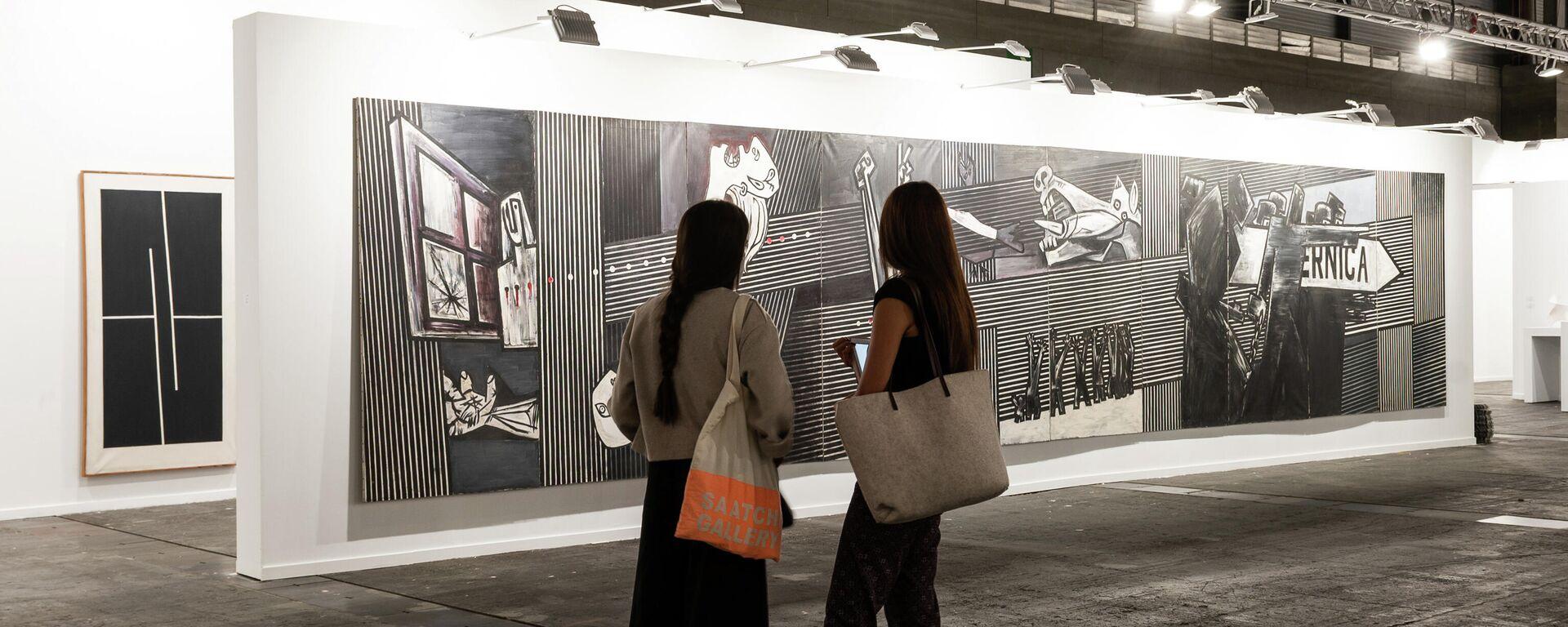 El 'Guernica' de Agustín Ibarrola en la feria ARCO de Madrid  - Sputnik Mundo, 1920, 16.07.2021
