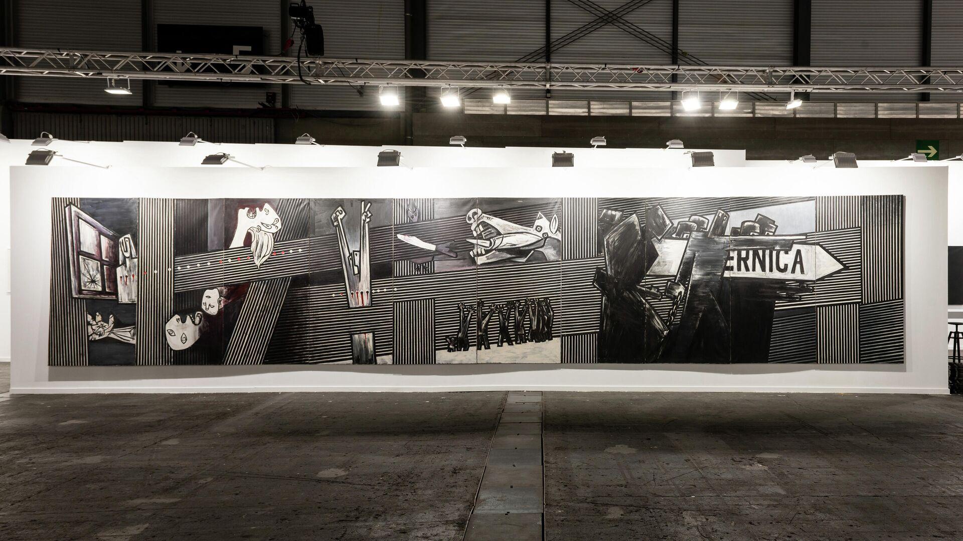 El 'Guernica' de Agustín Ibarrola en la feria ARCO de Madrid  - Sputnik Mundo, 1920, 15.07.2021