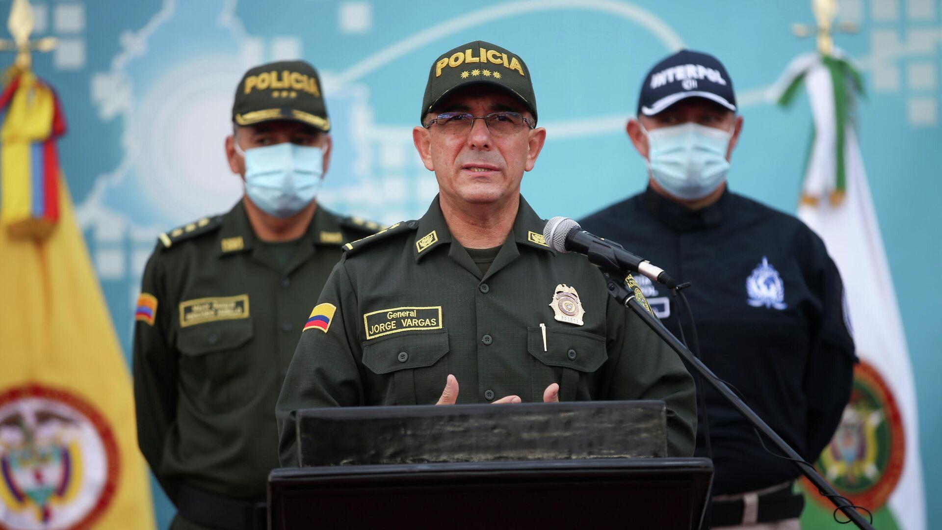 Jorge Luis Vargas Valencia, el Director General de la Policía Nacional de Colombia - Sputnik Mundo, 1920, 15.07.2021