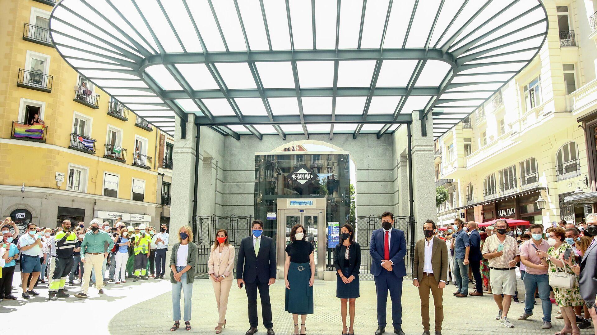 Acto de inauguración de la estación de metro de Gran Vía (Madrid) - Sputnik Mundo, 1920, 15.07.2021