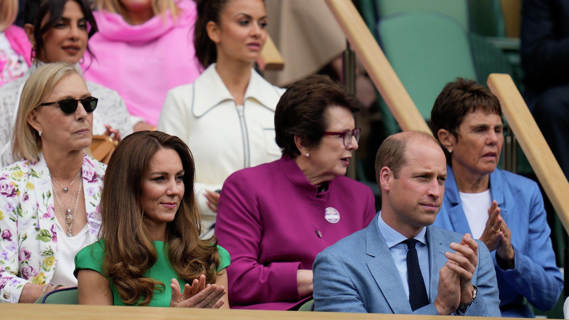 El príncipe William y su esposa, Kate, en el torneo de Wimbledon - Sputnik Mundo, 1920, 15.07.2021