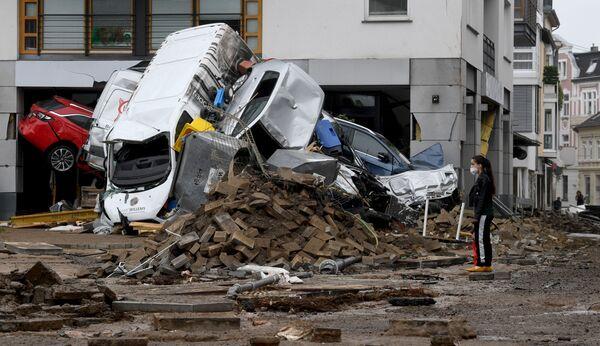 Las consecuencias de la inundación en Bad Neuenahr-Ahrweiler. - Sputnik Mundo