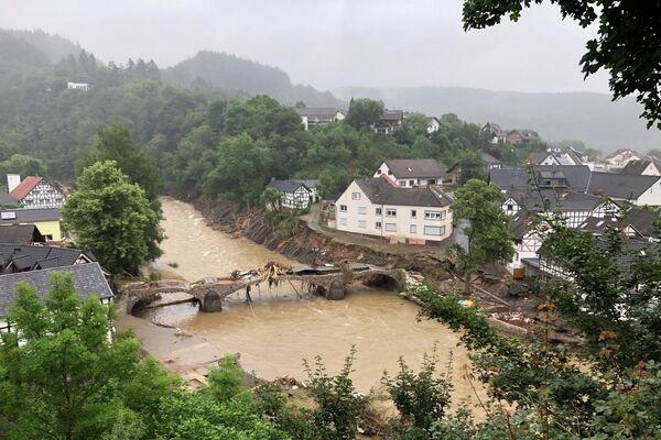Las consecuencias de las fuertes lluvias en Schuld, Alemania, el 16 de julio de 2021  - Sputnik Mundo