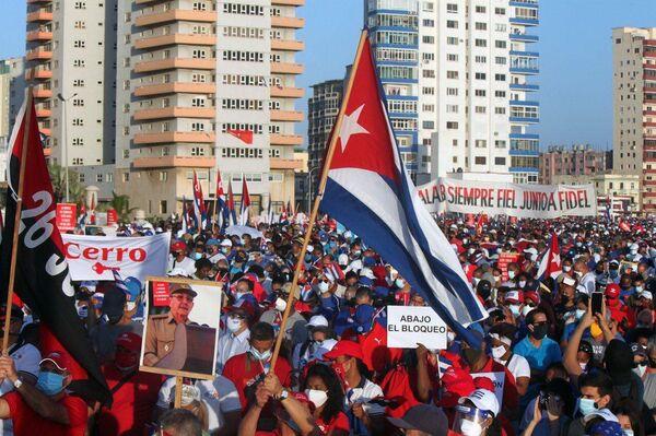 El multitudinario acto de reafirmación revolucionaria en La Habana - Sputnik Mundo