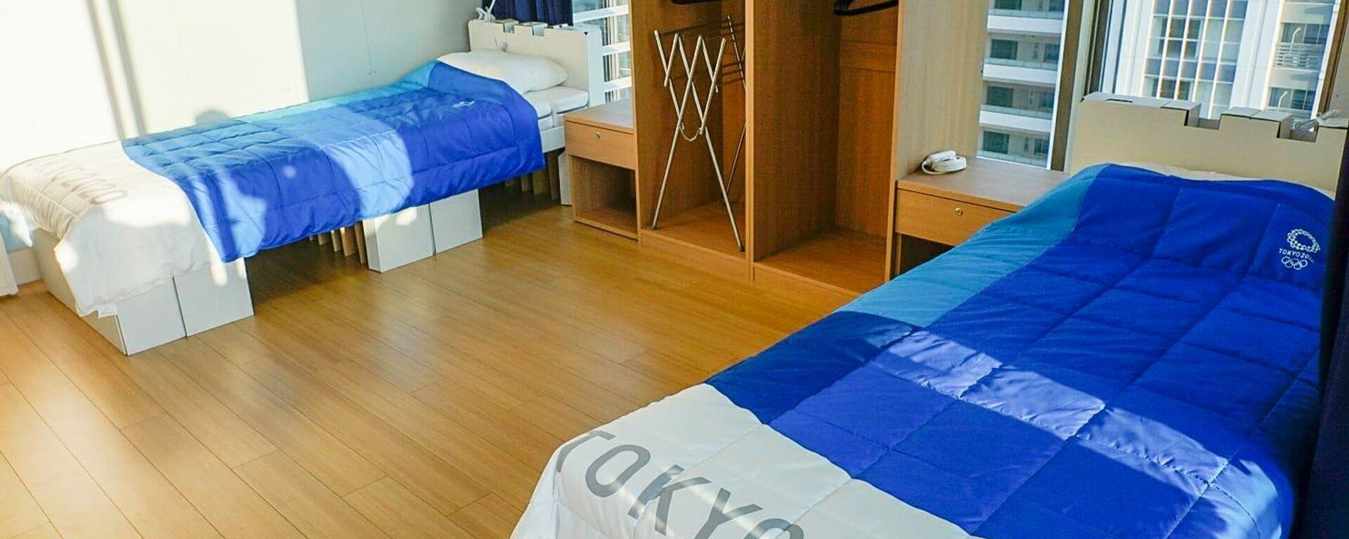 Las camas reciclables en la Villa Olímpica de Tokio - Sputnik Mundo, 1920, 17.07.2021