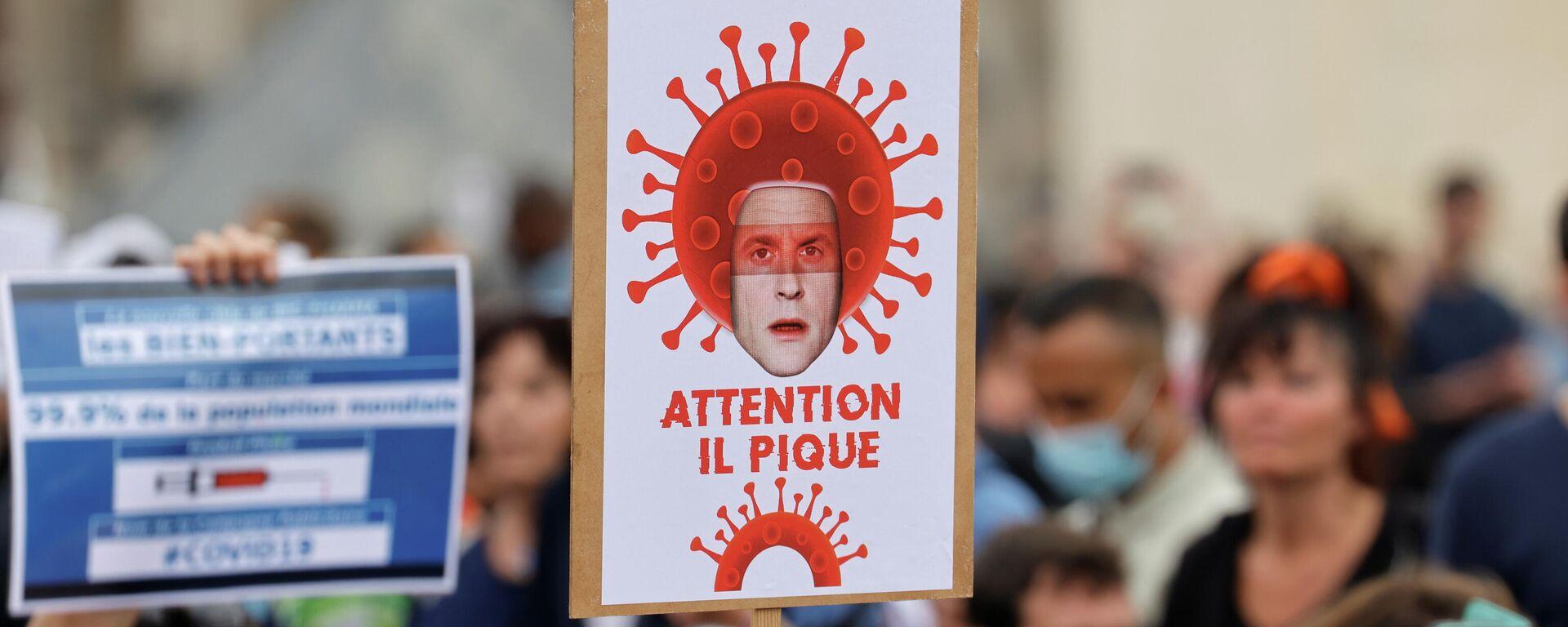 Protestas contra las medidas sanitarias en Francia - Sputnik Mundo, 1920, 18.07.2021