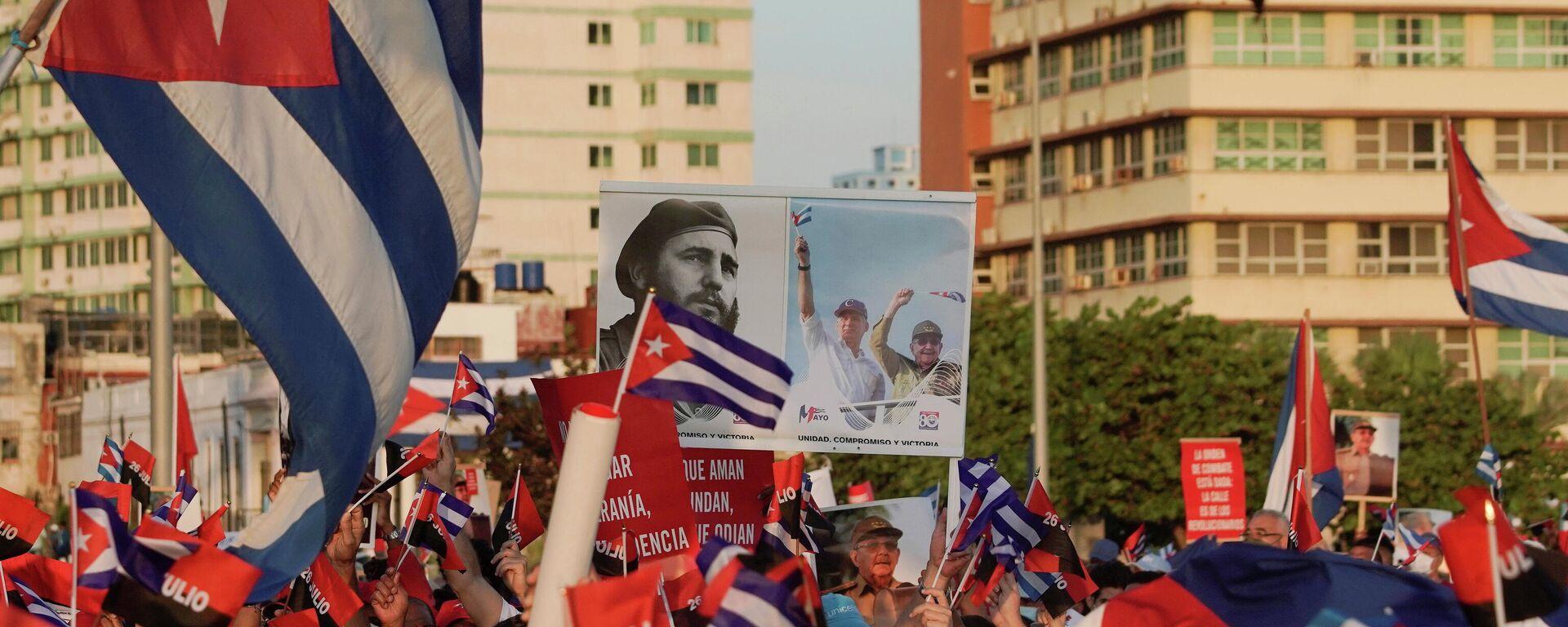 Manifestación en Cuba - Sputnik Mundo, 1920, 04.08.2021
