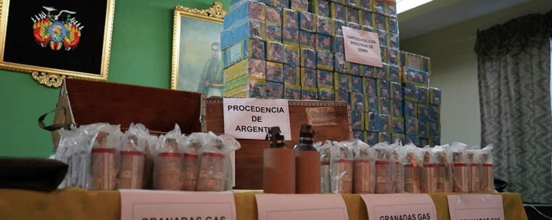 El Gobierno de Bolivia exhibió las municiones y confirmó que hubo tráfico ilícito desde Argentina - Sputnik Mundo, 1920, 19.07.2021