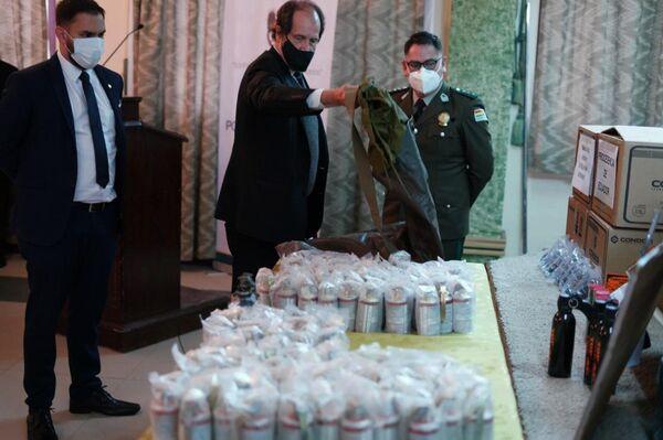 El Gobierno de Bolivia exhibió las municiones y confirmó que hubo tráfico ilícito desde Argentina - Sputnik Mundo