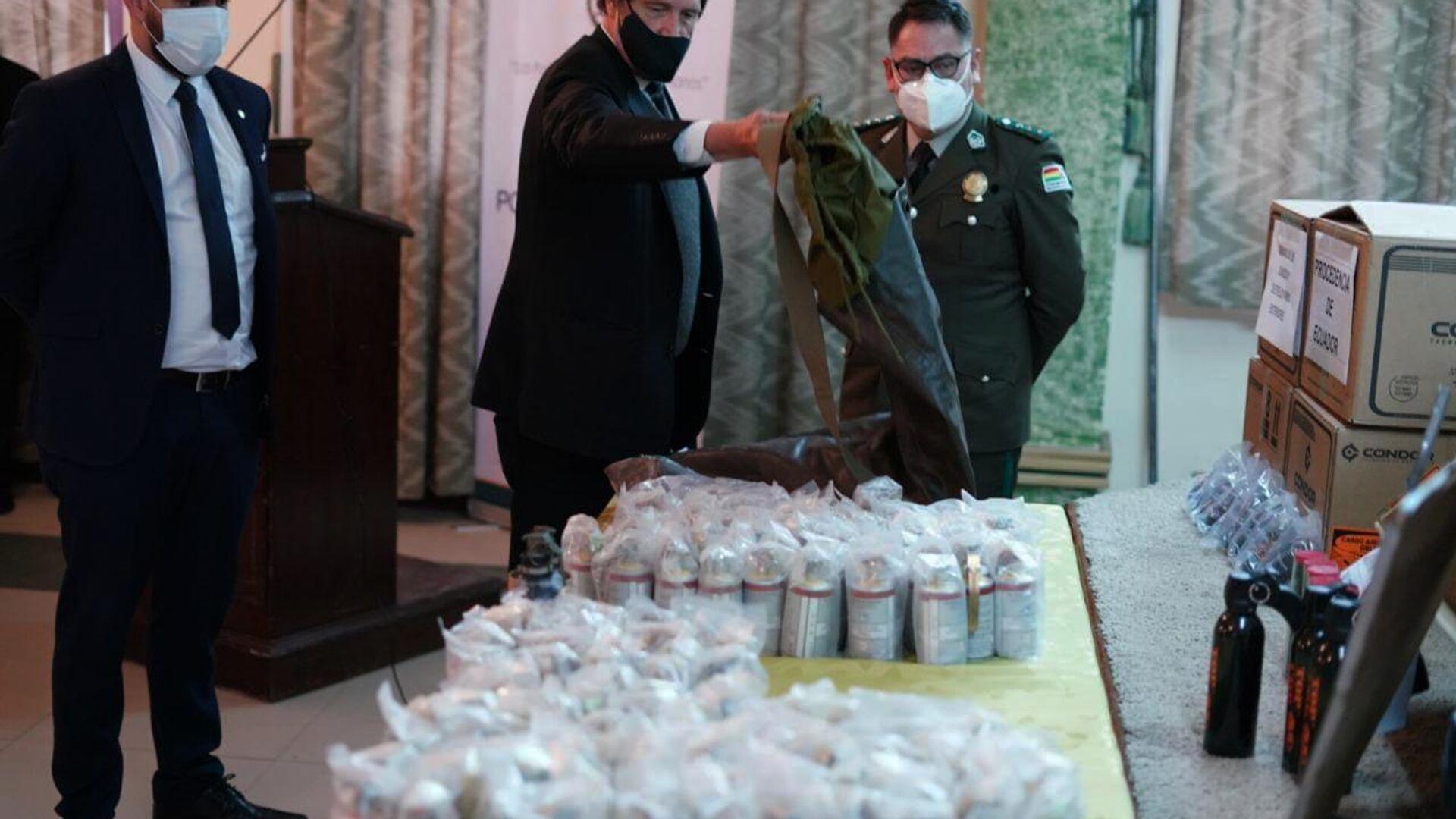 El Gobierno de Bolivia exhibió las municiones y confirmó que hubo tráfico ilícito desde Argentina - Sputnik Mundo, 1920, 22.07.2021