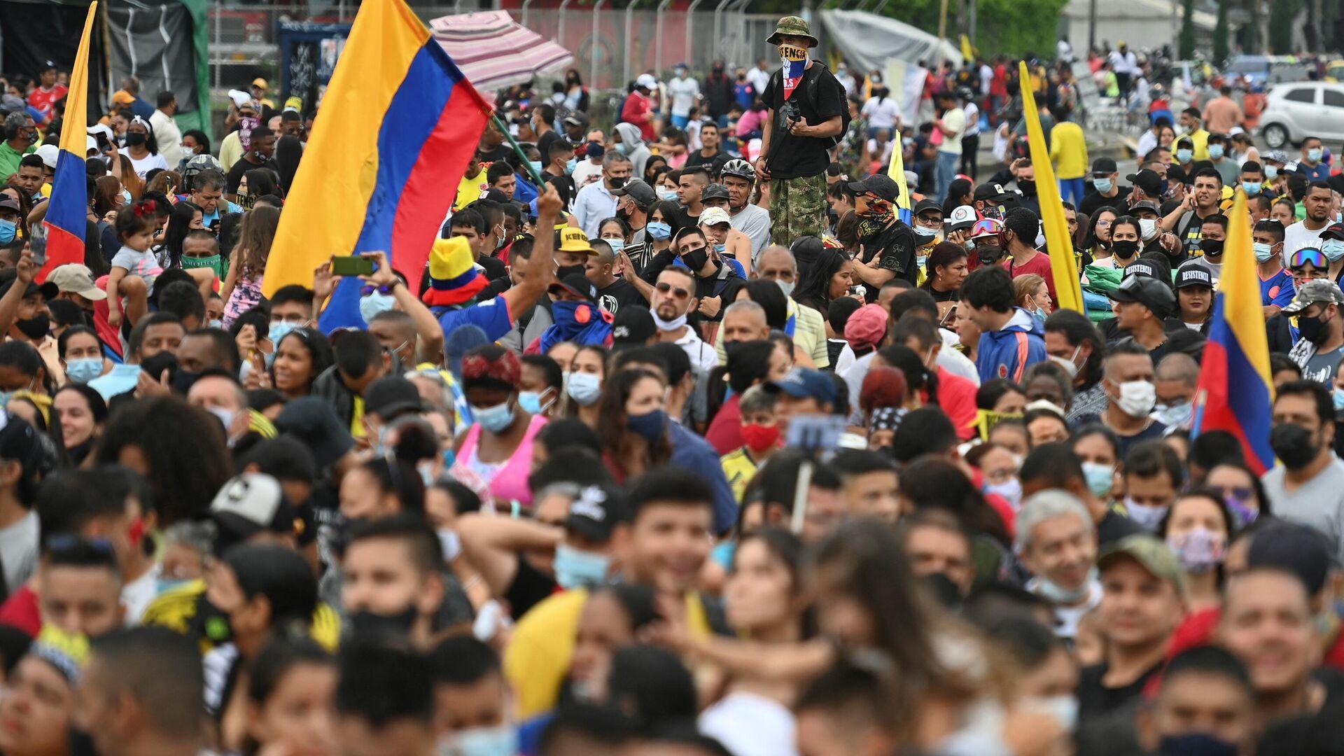 Protestas en Cali, Colombia - Sputnik Mundo, 1920, 20.07.2021