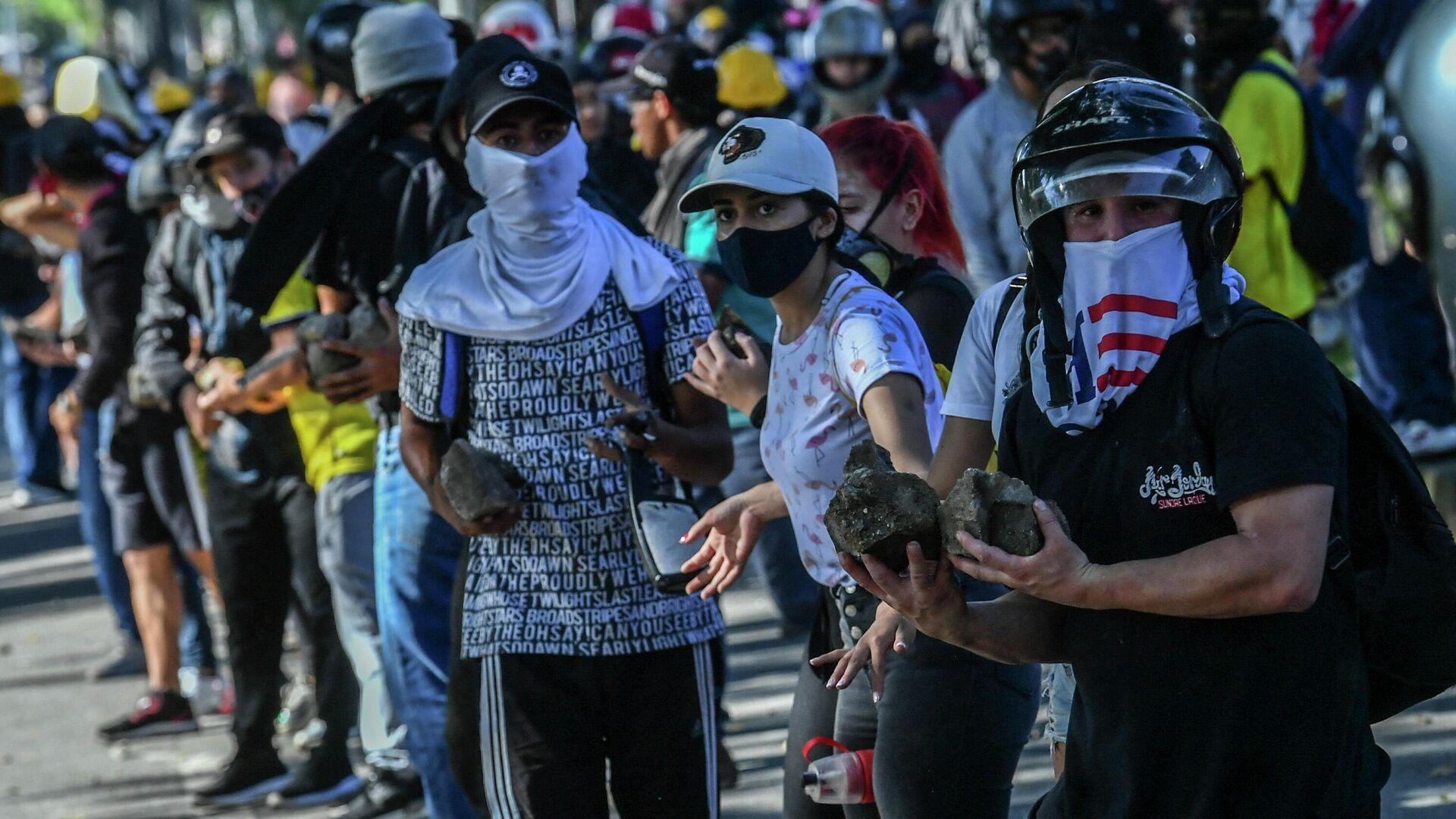 Protestas en Medellín, Colombia - Sputnik Mundo, 1920, 20.07.2021