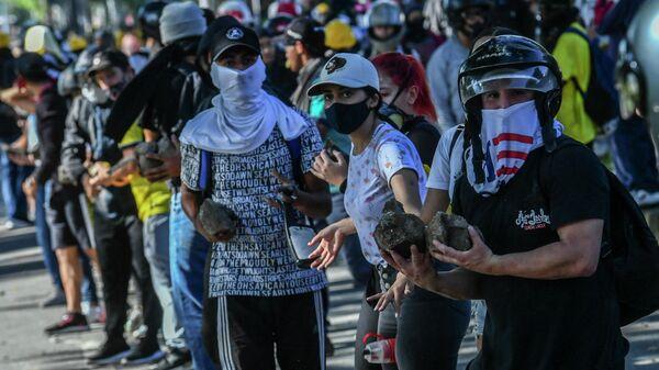 Protestas en Medellín, Colombia - Sputnik Mundo