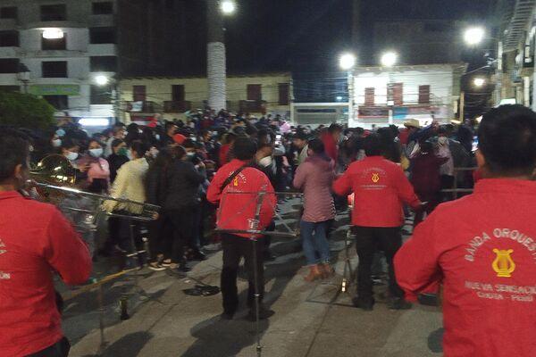 Festejo de la proclamación de Pedro Castillo en la ciudad de Chota - Sputnik Mundo