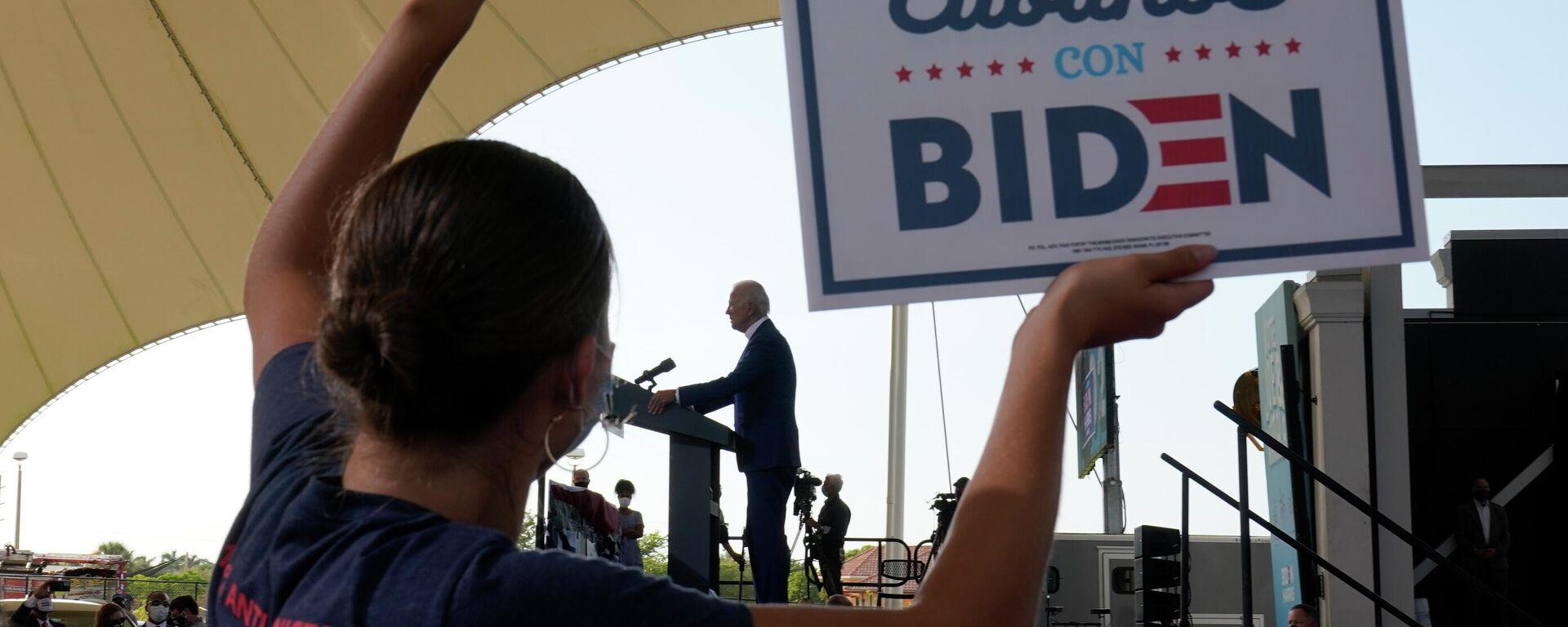 Joe Biden, presidente de EEUU, durante su campaña electoral en Florida (EEUU), el 13 de octubre del 2020 - Sputnik Mundo, 1920, 20.07.2021