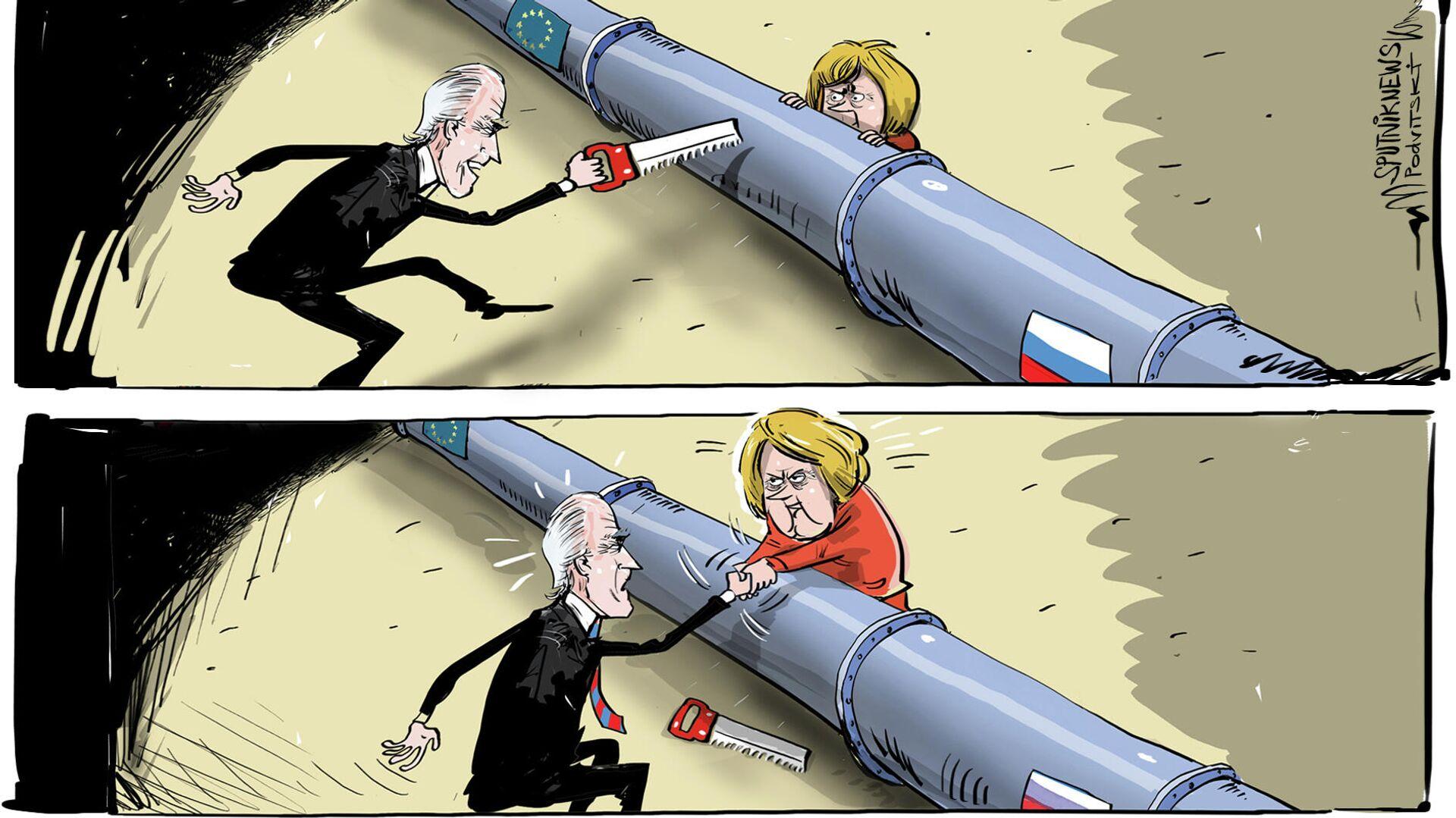 ¿EEUU y Alemania finalmente se darán la mano? - Sputnik Mundo, 1920, 20.07.2021