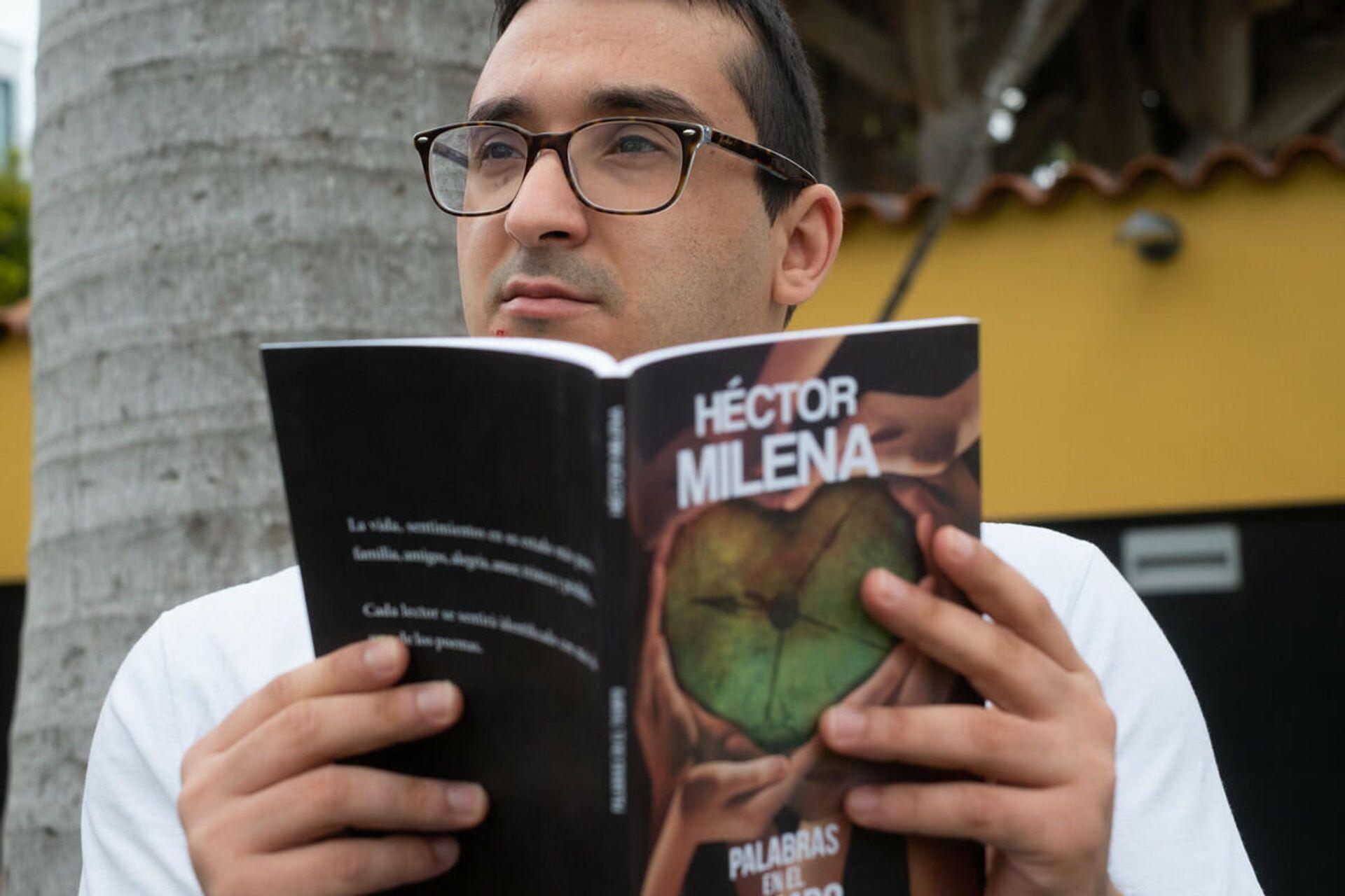 Héctor Milena, poeta español con discapacidad física - Sputnik Mundo, 1920, 20.07.2021