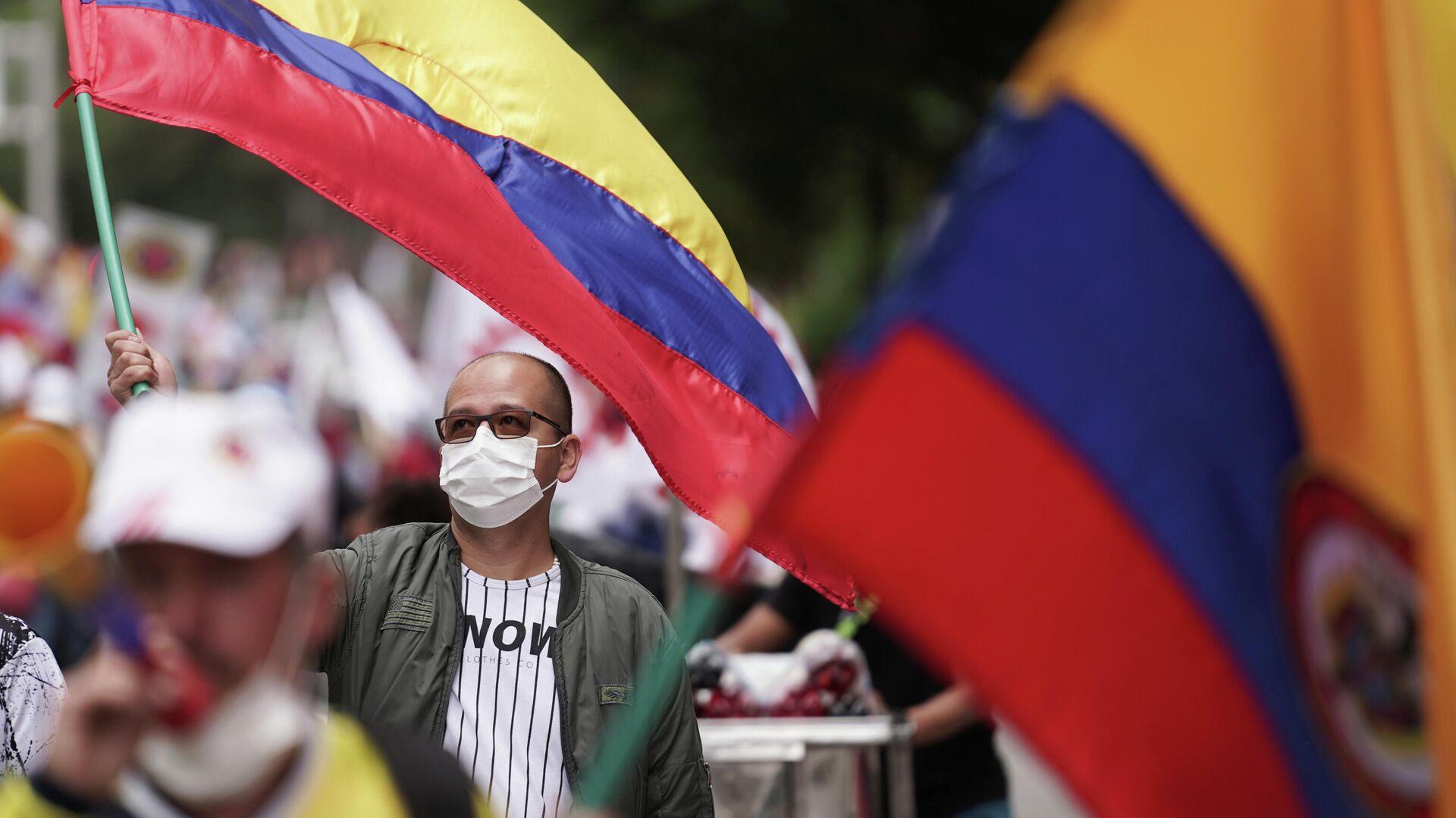 Jornada de protestas en Bogotá, Colombia, el 20 de julio - Sputnik Mundo, 1920, 20.07.2021
