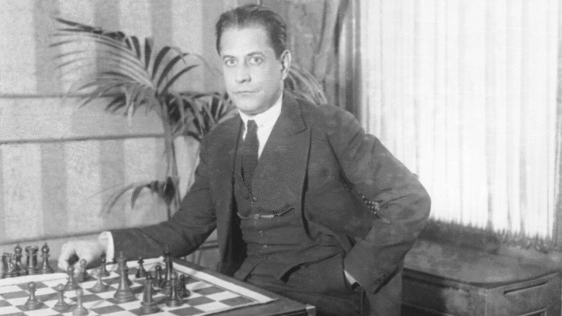 El ajedrecista cubano José Raúl Capablanca - Sputnik Mundo, 1920, 20.07.2021