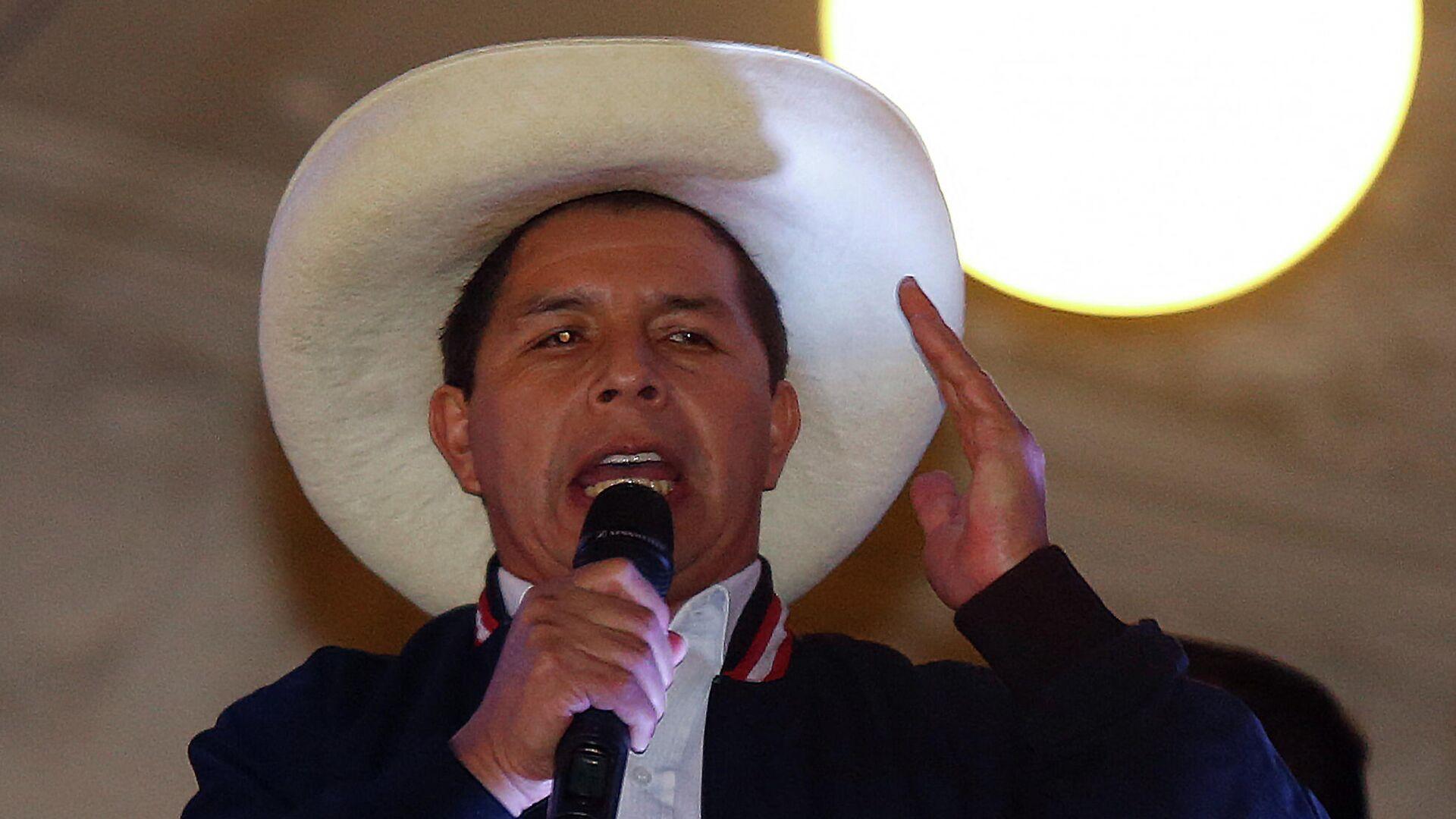 Pedro Castillo, presidente electo de Perú - Sputnik Mundo, 1920, 13.08.2021